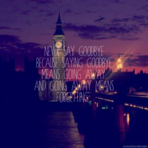 ... goodbye, london, never, never say never, peter pan, quote, sad, saying