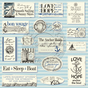 CCP2805 Nautical Sayings on Ivory