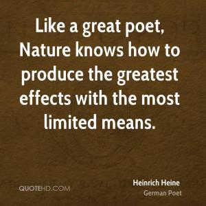 Heinrich Heine Nature Quotes