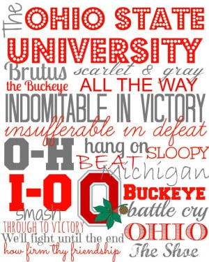 Ohio State Buckeyes Subway Art