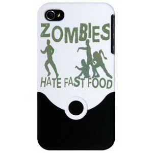 Zombie Fast Food Funny iPhone 4 Slider Cases