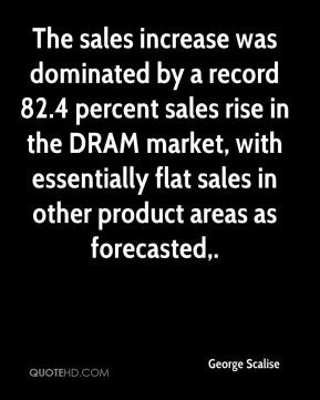 The sales increase was dominated by a record 82.4 percent sales rise ...