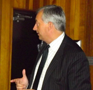 Lord Christopher Monckton started his 2011 addresses at the Wesley ...