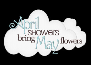 ... tears from last month will be enough help our April flowers grow