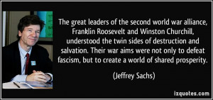 The great leaders of the second world war alliance, Franklin Roosevelt ...