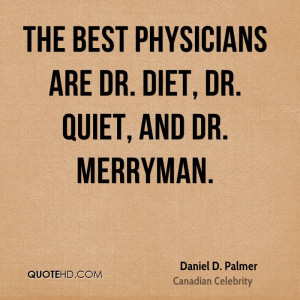 Daniel D. Palmer Diet Quotes