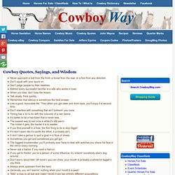 Cowboy Quotes, Sayings, and Wisdom