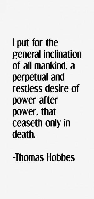 Thomas Hobbes Quotes & Sayings