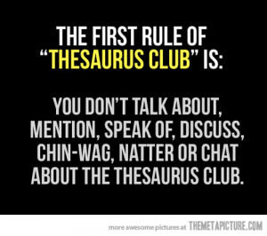 funny Thesaurus quote joke