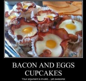 Bacon & Eggs Cupcakes
