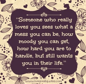 Someone Who Really Loves You | Live Great Quotes