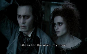 helena, movie quote, quote, sweneey todd, tim burton, typography