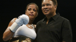 Laila Ali With Father Muhammad Ali - Inspire Others