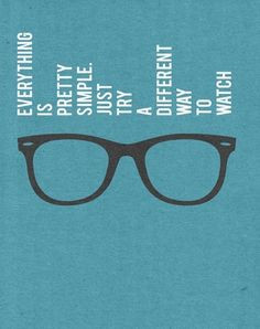 ... in different way ,) #sunglasses #eyewear #optical #glasses #quote More