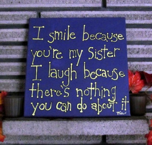 Sister Quotes Canvas Art 12x12 Canvas Art by MadeByTheHearth, $28.00