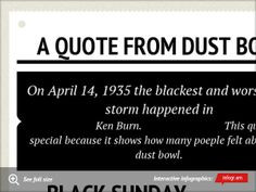 quote from Dust Bowl. Black sundayA picture of a dust ...