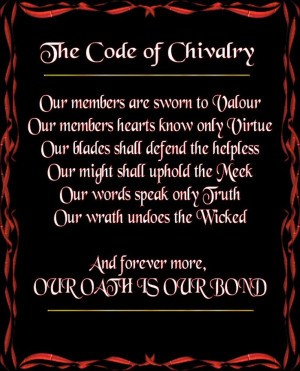Code of Chivalry. Wish we saw more of it today