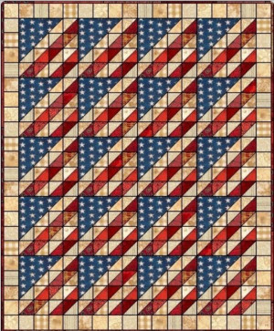 Old Glory Quilt Pattern