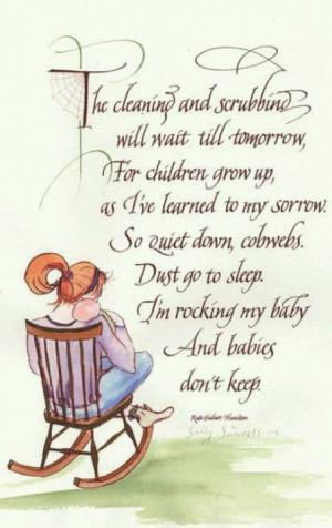 Babies don't keep