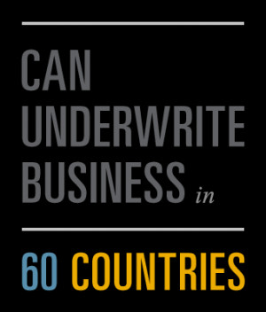 can underwrite business in 60 countries