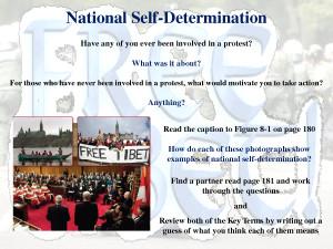 Self Determination National self-determination