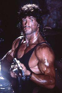 Rambo interpretato da Sylvester Stallone