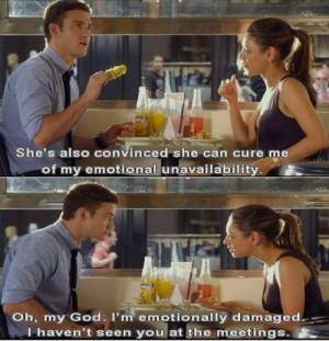 ... Discuss Their Emotional Problems With Jokes In Friends With Benefits