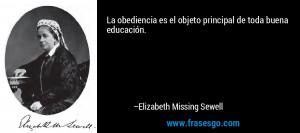 principal de toda buena educaci n Elizabeth Missing Sewell