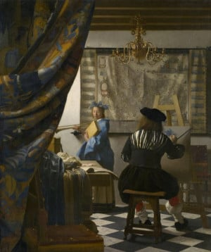Il pittore nello stduio, Johannes Vermeer