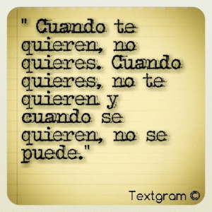 amor #querer #quotes #sayings #Spanish #love (Taken with Instagram)