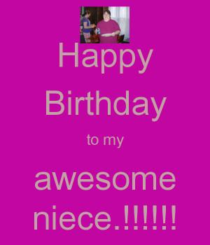 Keep Calm Happy Birthday to My Niece