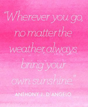 WISE WORDS: ANTHONY J. D'ANGELO