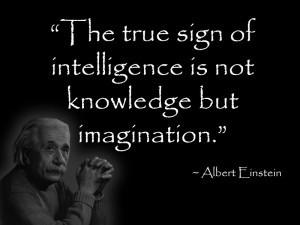 Geek bathroom quote by Albert Einstein. The true sign of intelligence ...
