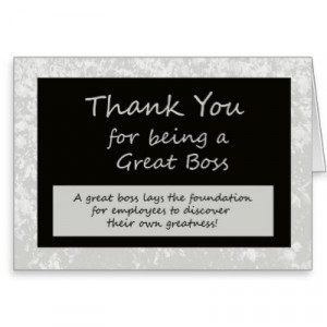 Be sure to let your boss know how great a boss they are on Bosses Day ...