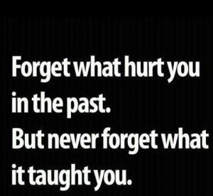 Wisdom Quote – forget what hurts you in the past. But never forget ...