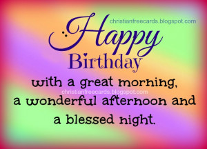 ... christian quotes for bday, birthday with God's blessing, christian