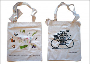 Organic cotton bags are the perfect media for green communication