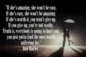 If she's amazing..