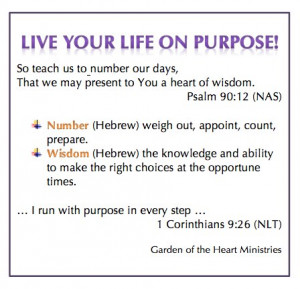 Live Your Life on Purpose!