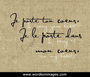 french love quotes with english translation quotesgram