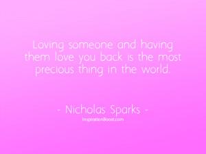 Nicholas Sparks Precious Love Quotes