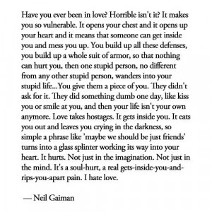 Your Sad But True Quote Of The Day: Neil Gaiman On Love