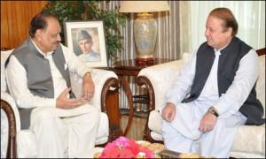 ... Minister Nawaz Sharif called on President Mamnoon Hussain on Friday