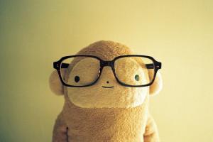 ... cute, glasses, kawaii, lifestyle, monkey wearing glasses, monkeys, ne