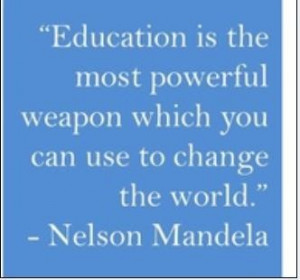 Quotes About Education Nelson Mandela