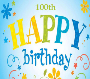 100th birthday invitations 100th Birthday Balloons