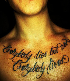 Quote Chest Tattoo