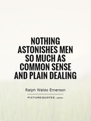 Common Sense Quotes Ralph Waldo Emerson Quotes
