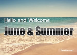 Welcome and Happy June Quotes Sms and Wishes