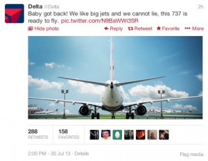 Delta Quotes Sir Mix-A-Lot's 'Baby Got Back' -